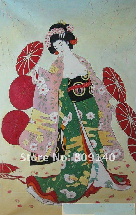 Traditional Japanese Girl Painting | www.pixshark.com ...