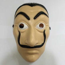 20Pcs/lot Men Halloween Carnival Salvador Dali Face Masks Money Heist The House of Paper La Casa De Papel Mask