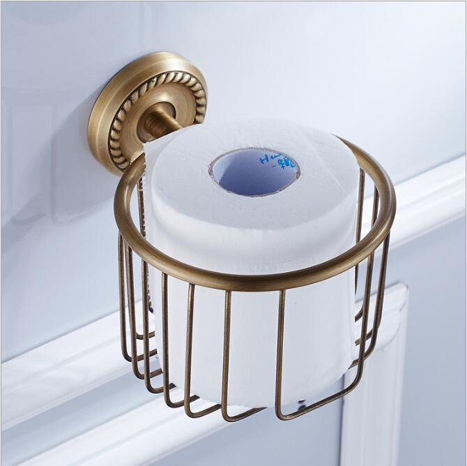 Wall Mounted Antique Bronze Bathroom Accessories Toilet Paper Holder bathroom toilet paper roll holder Tissue holder luxury bathroom toilet paper holder copper antique toilet paper rolls bathroom paper storage basket bathroom accessories