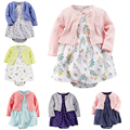 Baby Girl Clothes 2017 Spring Baby Girl Clothing Sets Cotton Newborn Baby Clothes Roupas Bebe Infant Baby Bodysuit + Dress