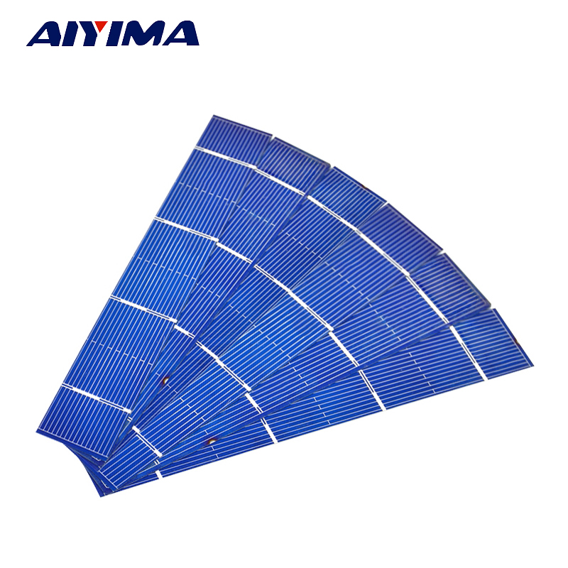Aiyima 50pcs Solars Panel 156x26mm Solar Panel polycrystalline Silicon Flexible Solar Ce ...