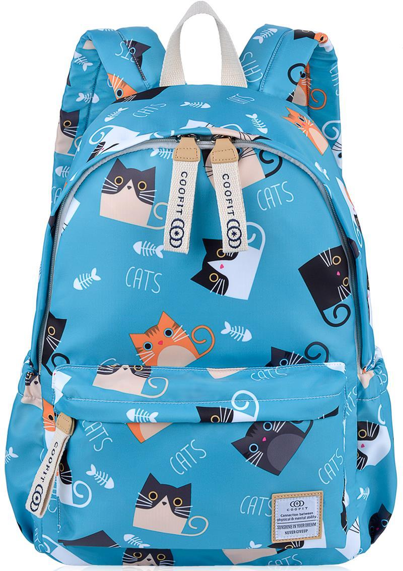 Kawaii Cartoon Cat Printed Lightweight Backpack For Children Girls Women Nylon School Bag Bookbag Kids Teens RucksacksKawaii Cartoon Cat Printed Lightweight Backpack For Children Girls Women Nylon School Bag Bookbag Kids Teens Rucksacks