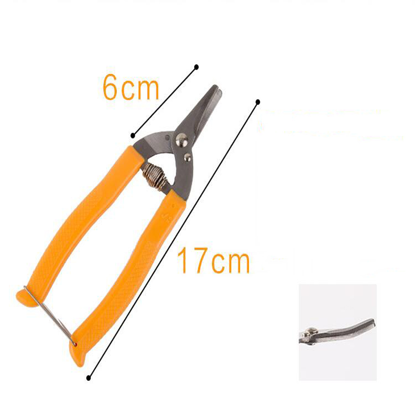 high quality orange scissors Curved mouth small fruit tree pruning shear fruit scissors for gardening fruit experts