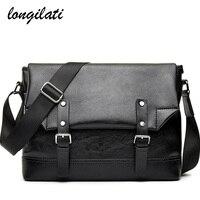 Men Travel Bags Waterproof Crossbody Bag For Male PU Leather Shoulder Bags Envelope Messenger Bag Vintage