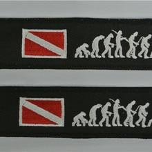 Брелок из ткани с вышитым логотипом для подводного погружения