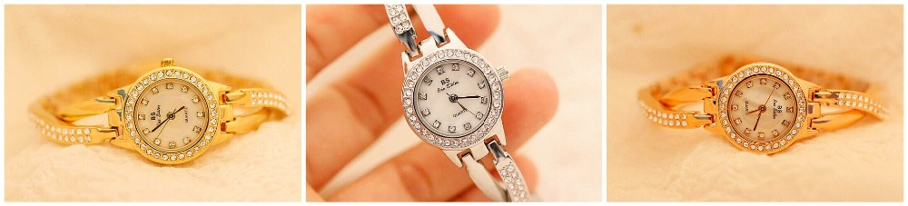 Image 4 - Top Brand Small And Elegant Ladies Watches Small Dial Watch Women Charm Bracelet Watch Girl Fashion Casual Watch Zegarek Damski-in Women's Watches from Watches