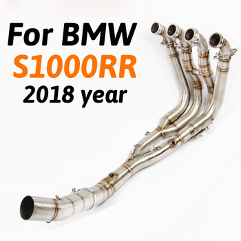 Slip-On S1000RR Tube Motorcycle Full Exhaust System Header Link Middle Pipe Without Muffler For BMW S1000RR 2018 Year