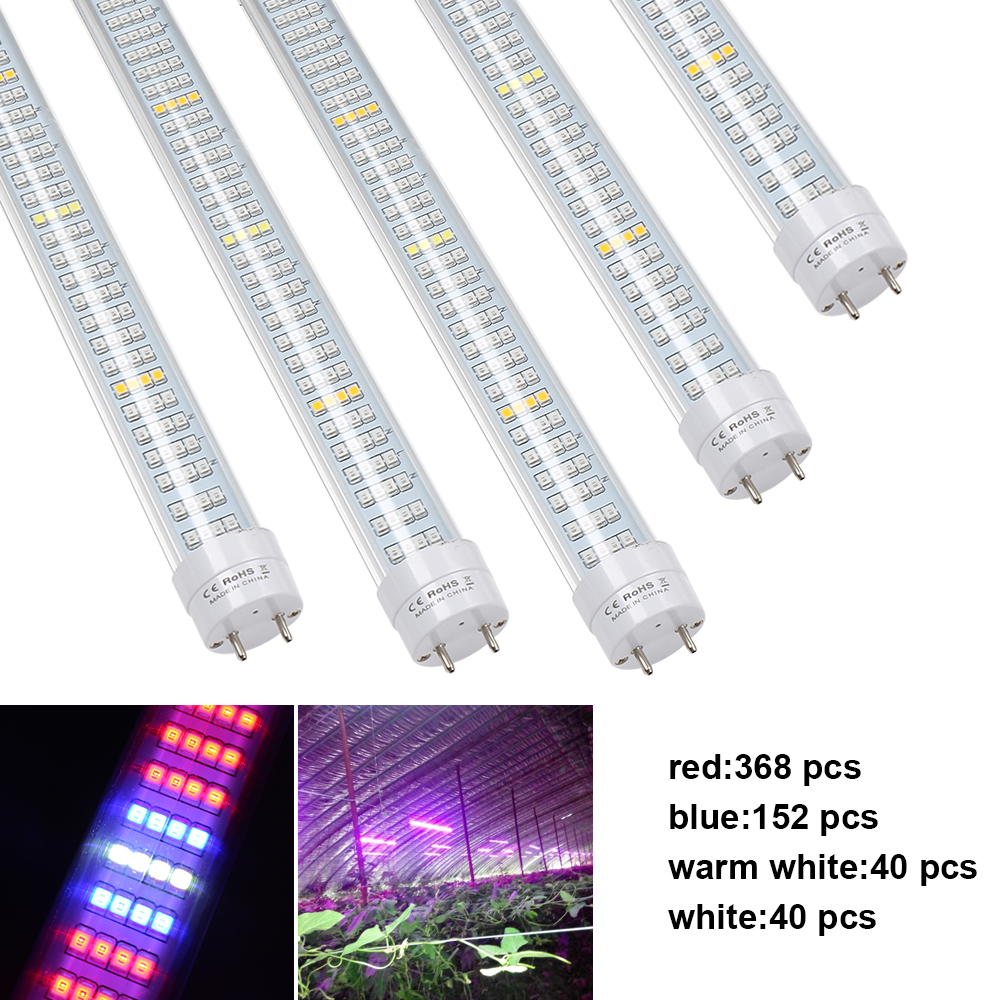 5pcs Led Grow Lights 1 2M T8 Tube Phytolamp Growth Lamp Bar for Indoor Plant Growing