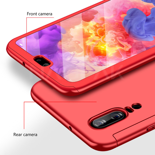 NAGFAK Full Cover Phone Case For Huawei P20 Pro P20 Lite Shockproof Protective Cases For Huawei P20 Lite Phone Bags Capa Glass