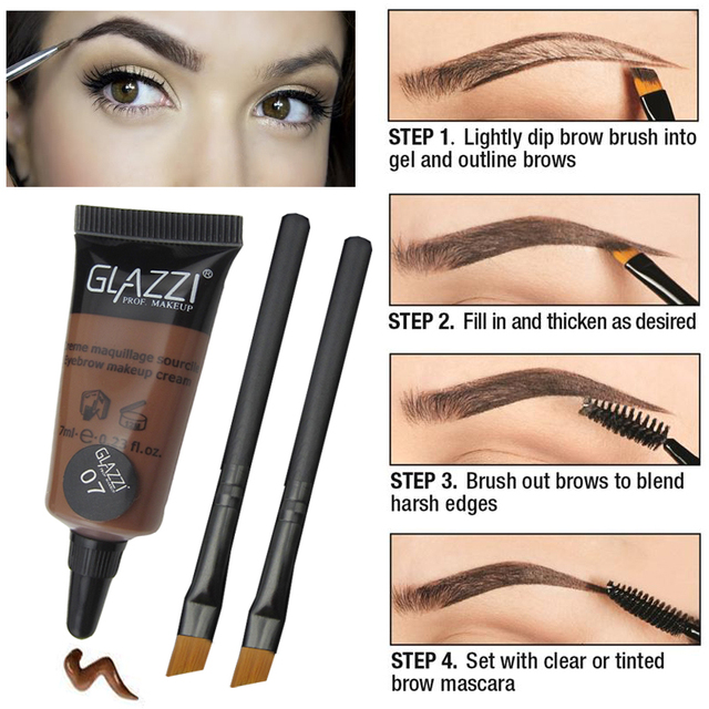 Professional Eyebrow Enhancer Make Up Eyes Brown Coffee Henna