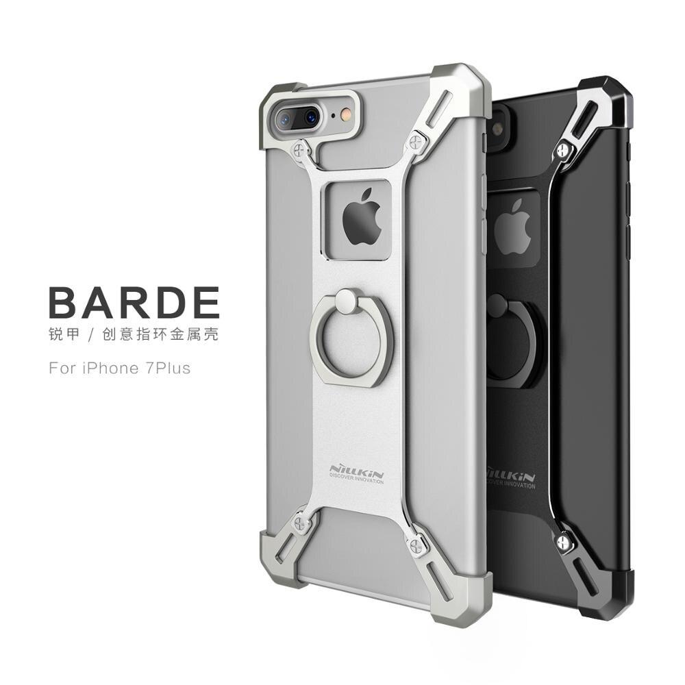 bilder für NILLKIN Barde Metallgehäuse mit Ring Halter für iPhone 7 Plus zurück Abdeckung für iPhone 7 Plus Fingerring Halter Fall zink-legierung rand