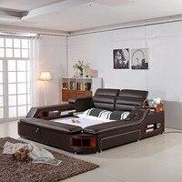 Доставка в Коста Рике! 2018 ограниченное Новое поступление современный Спальня комплект Moveis Para кварто мебель массаж мягкая кровать с безопас