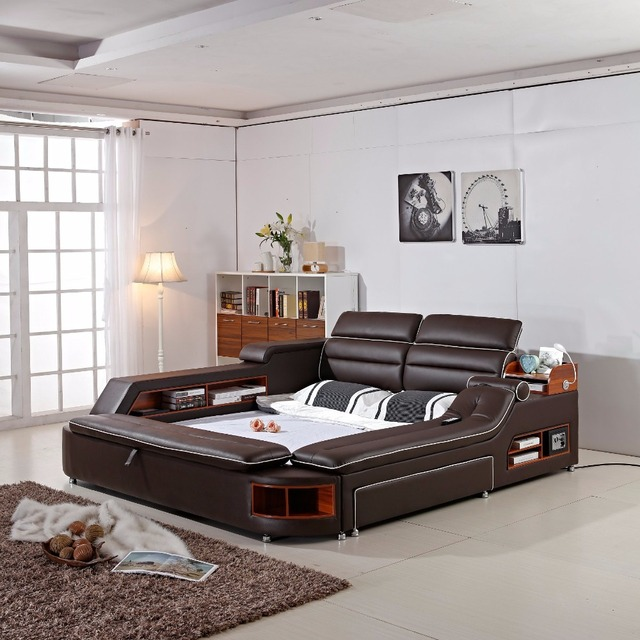 2018 Limited New Arrival Modern Bedroom Set Moveis Para Quarto Furniture Mage Soft Bed With Safe