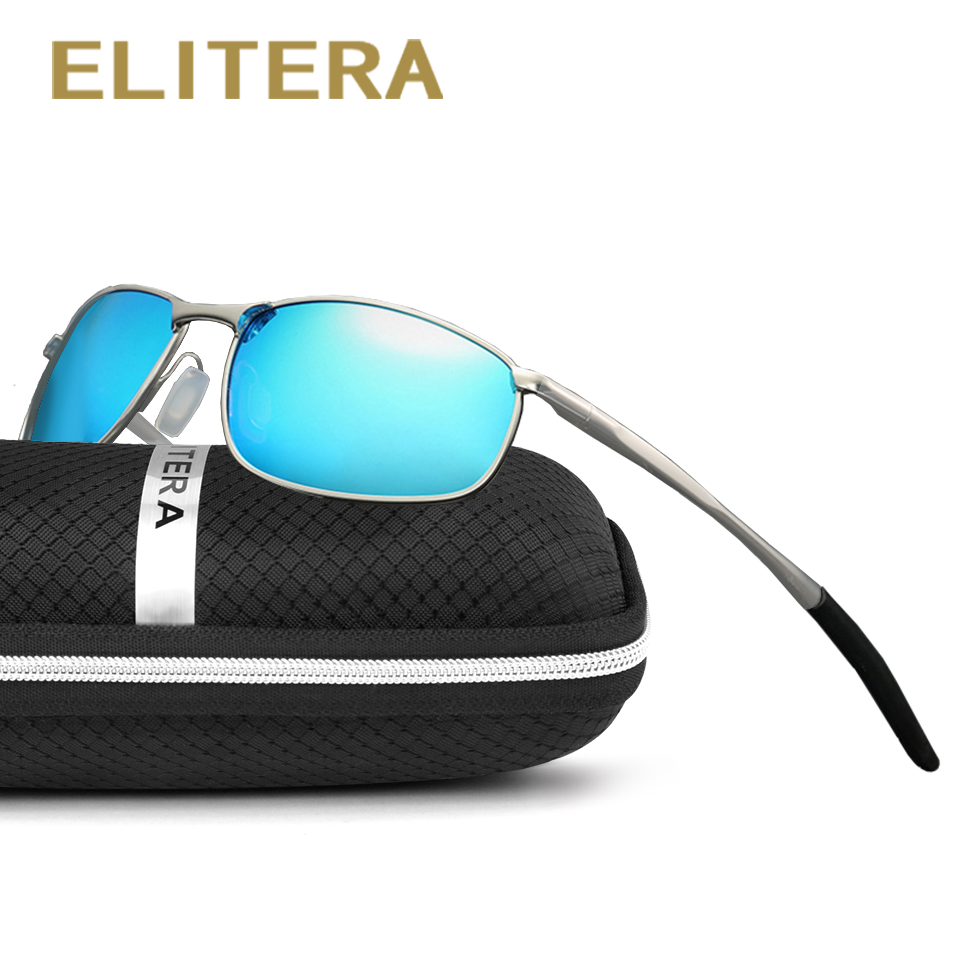 ELITERA Polarized Sunglasses Men Retro Vintage Sun glasses