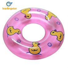 LeadingStar 2 Pcs Baby Bath Toy Inflatable Swim Ring Toy Plastic Mini Swim Circle Gift for Kids (Pink & Blue) zk40(China)