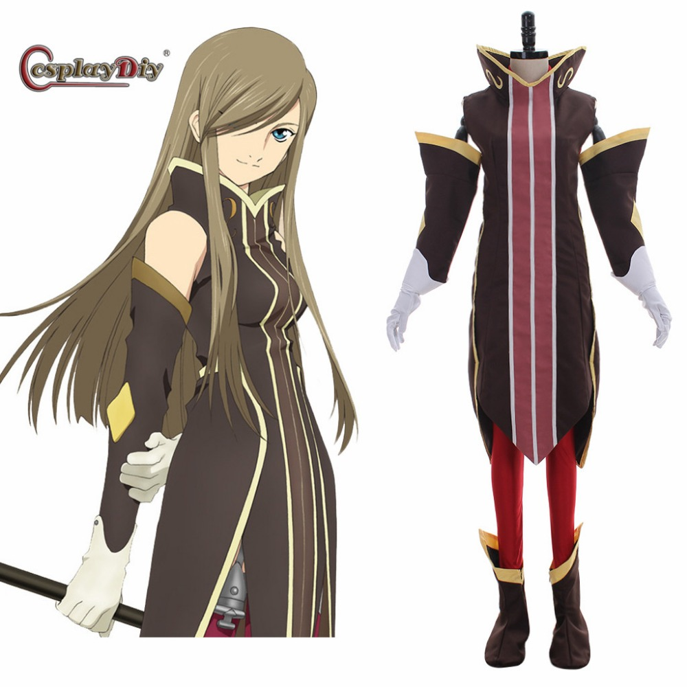 Cosplaydiy Tales of The Abyss Cosplay Costume Tear Grants Cosplay Dress Adult Women Costumes for Halloween Custom Made