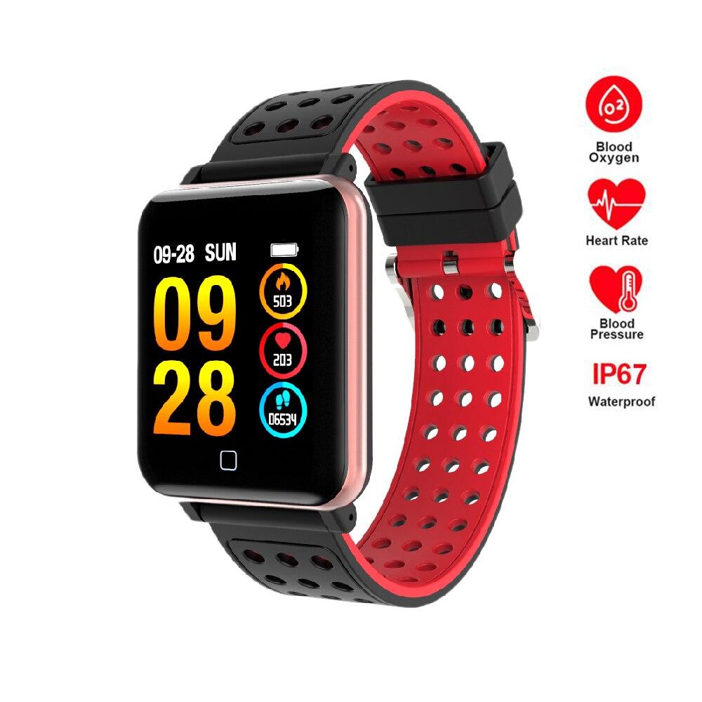 Фитнес Смарт-часы для мужчин для женщин шагомер сердечного ритма мониторы давление сенсорный экран Bluetooth бег спортивные часы водо...