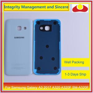 Image 3 - 50Pcs/lot For Samsung Galaxy A3 2017 A320 A320F SM A320F Housing Battery Door Rear Back Cover Case Chassis Shell