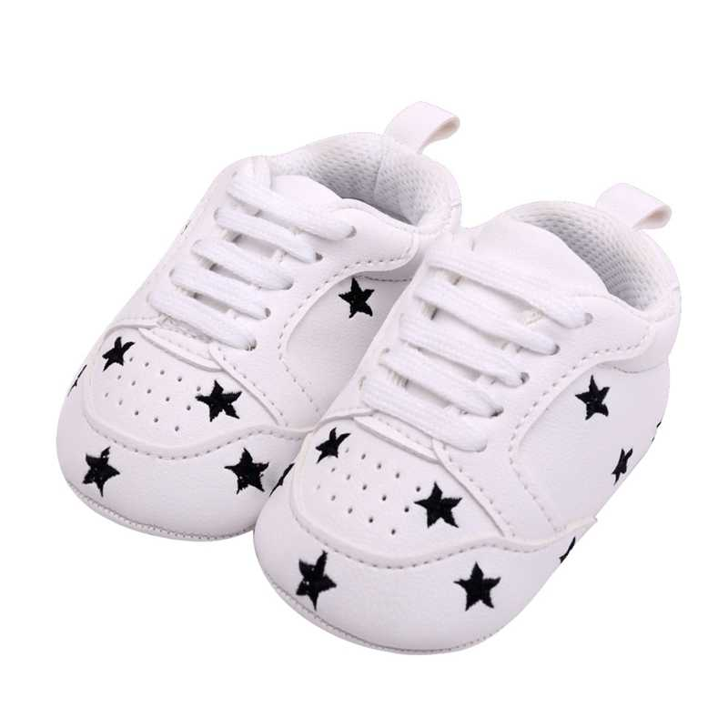 63235e97a50 2019 Baby Girl Shoes Baby Moccasins Infant Sneakers Heart Star First Walker  Toddler Soft Sole Crib