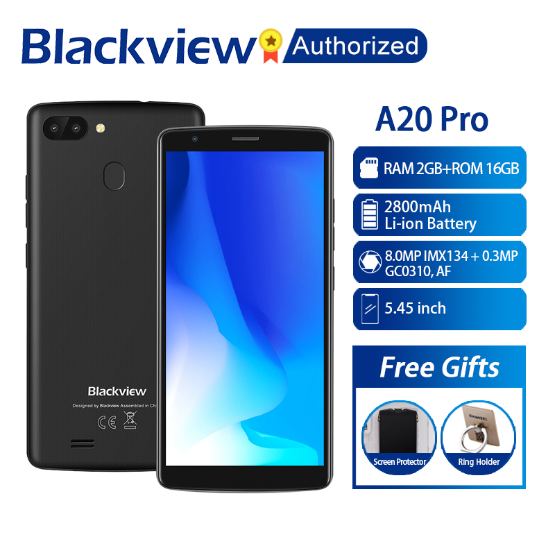 BLACKVIEW A20 Pro Phone 2GB 16GB Smartphone 5 5 18 9 Full Screen MTK6739 Quad Core