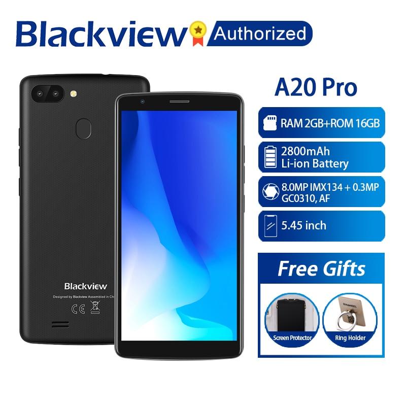 BLACKVIEW A20 Pro Phone 2GB 16GB Smartphone 5 5 18 9 Full Screen MTK6739 Quad Core