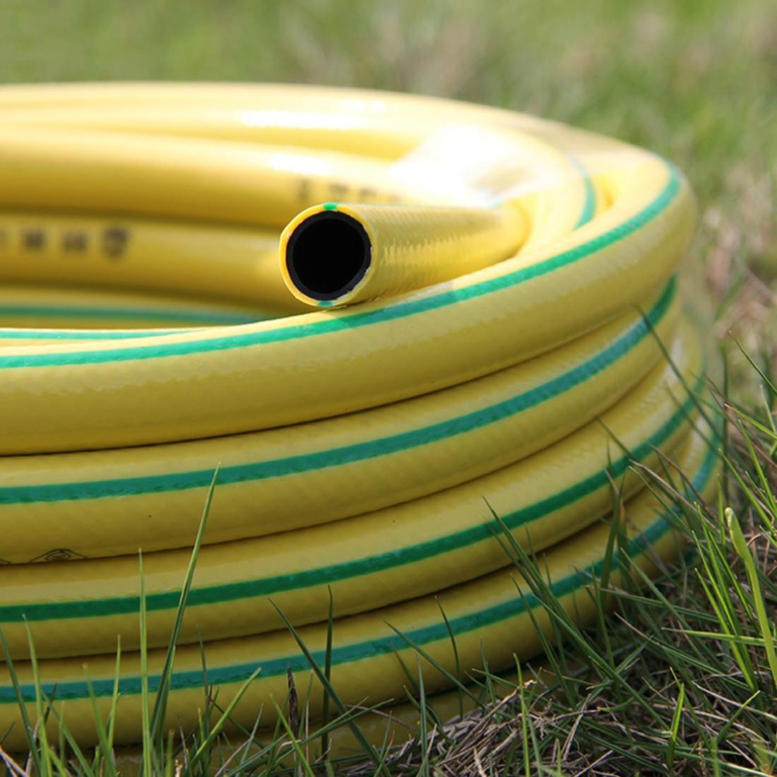 Tuyau En Plastique PVC Tube D'eau pour L'arrosage du Jardin et le Lavage Auto-Jaune