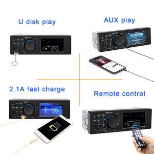 Автомобильное радио Bluetooth Авторадио 12 В Автомобильное стерео радио FM Aux вход приемник зарядка SD USB In-dash 1 din автомобильный MP3 мультимедийный плеер
