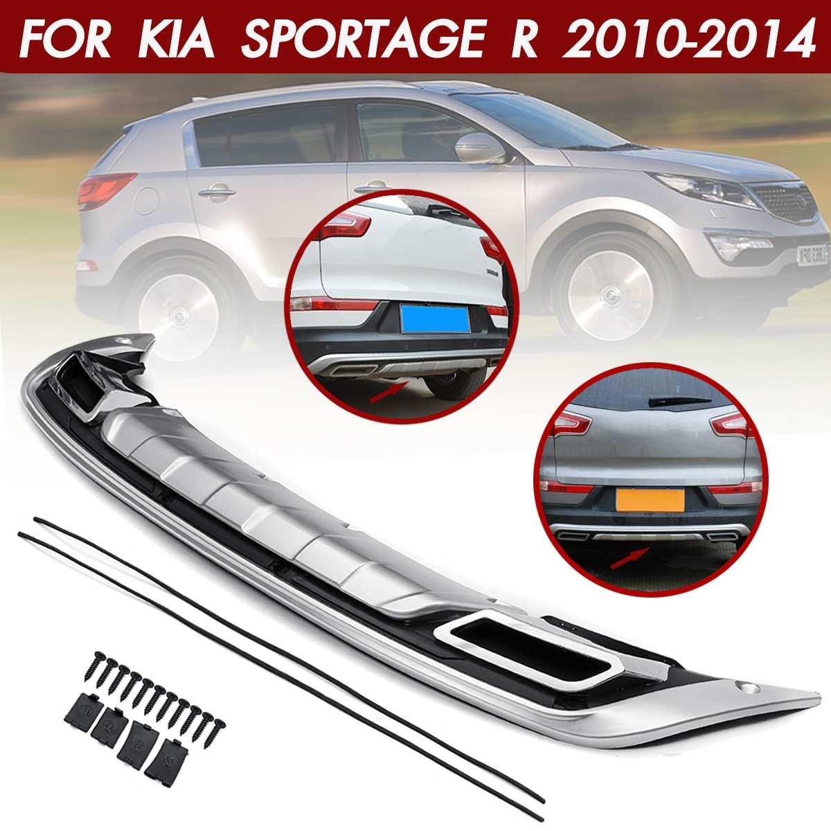 Car Rear Bumper Cover Trim Guard Protector Silver Bumpers Protection For Kia Sportage R 2010 2011 2012 2013 2014