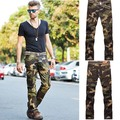 2016 men's casual train pants men, outside camouflage trousers multi-pocket pants, cotton loose cargo pants
