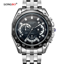 Top Brand LONGBO Business Stainless Steel Quartz Analog Watch Men Fashion Sport Army Military Wristwatch Relogio Masculino Clock все цены
