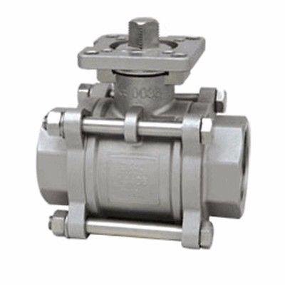 DN20 3/4 BSP Female Thread 304 Stainless Steel 1-piece Ball Valve oil water air 229 PSI 1 2 bsp female 304 stainless steel flow control shut off needle valve 915 psi water gas oil