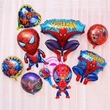 spiderman balloon helium toys for children birthday party decorations kids boy gift balloons