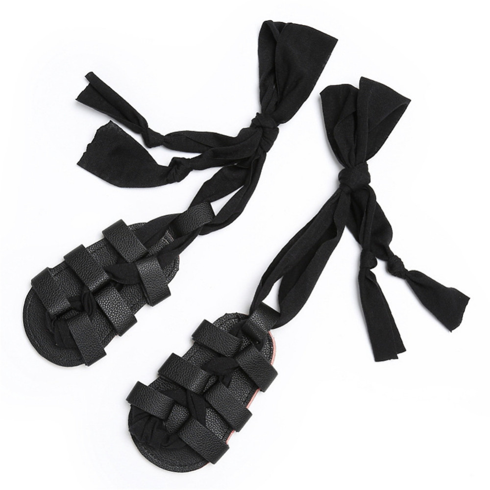 Black sandals baby girl - Summer Baby Girls Shoes Kids Sandals Soft Bottom Fashion Ribbon Lace Up Roman Shoes Sandals