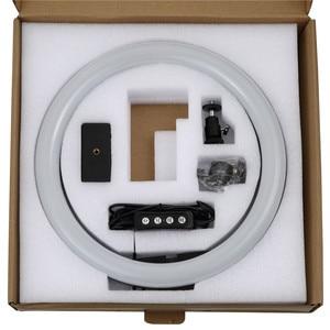 Image 5 - 10 дюймовая светодиодная кольцевая осветительная лампа для студийной фотосъемки телефона YuTube с адаптером для штатива 1,1 м, usb разъем для iphone Xiaomi