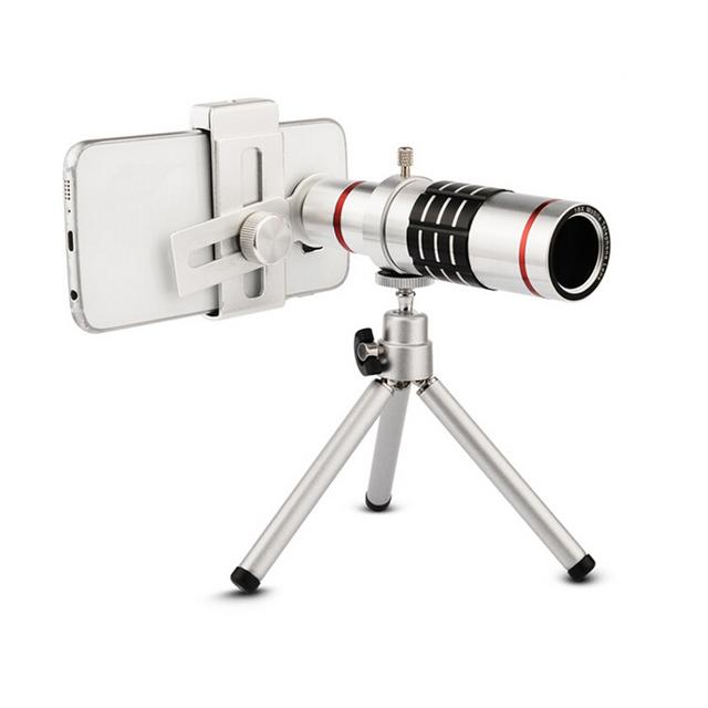 Universal magnificación 18x teleobjetivo lente de 18x de zoom óptico del telescopio del teléfono móvil para el iphone samsung smartphones