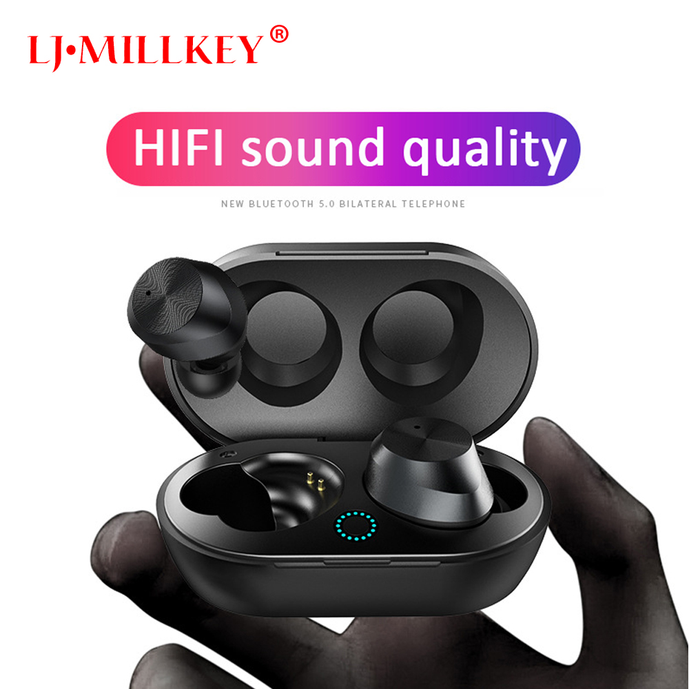 2019 nuevo auriculares Bluetooth 5,0 inalámbrica Bluetooth auriculares estéreo de deporte auricular Bluetooth auriculares LJ-MILLKEY YZ257