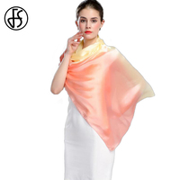FS Echarpes Foulards Femme Hijab Chinese 100 Silk Scarves For Woman Scarfs Stoles Wrap Shawls Gradient