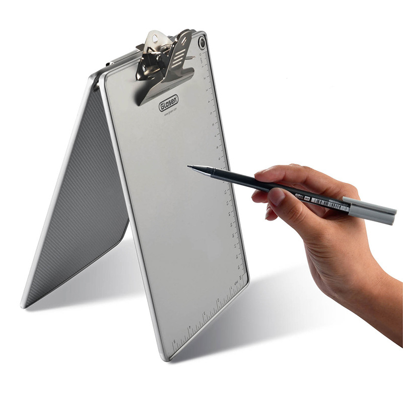 1 Pc/Lot Portable A4 A5 Aluminum Clipboard With Metal Clip For School Stationery & Office Supply & Home Use JB06