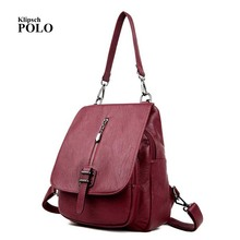 Genuine leather Women Backpacks leather Backpacks student bags For Teenagers Girls Female Travel Back Pack