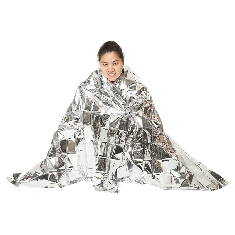 210*160CM Outdoor WaterProof Emergency Survival Rescue Blanket Foil Thermal Space First Aid Sliver Rescue Curtain Blanket