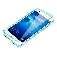 Huawei Honor 5C силиконовый чехол Качество ТПУ флип чехол для Huawei Honor 7 lite Coque аксессуар протектор экрана телефона случаях