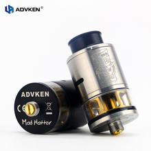 Oringnal Advken 2pcs/Lot Mad Hatter 24 RDTA Tank 3.5ml Electronic Cigarette 510 Thread Rebuildable Atomizer