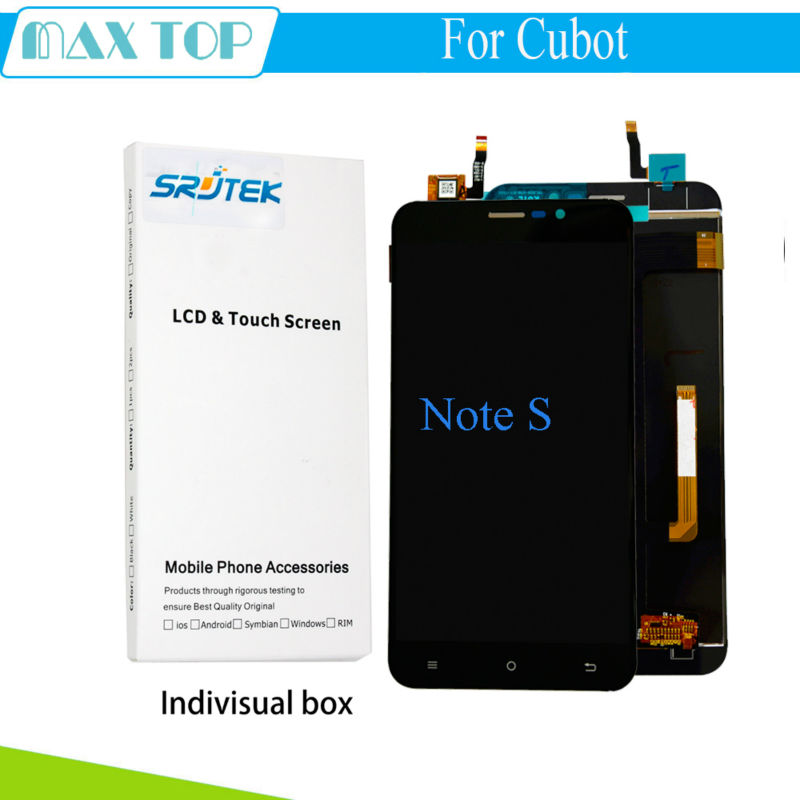 ФОТО For CUBOT Note S LCD Display with Touch Screen Digitizer Brand NEW 1280X720 HD 5.5inch Black/White Replacement Parts