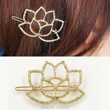 New Fashion Upscale Hollow Alloy Lotus Flower Retro Hairpin Hair Accessories For Women Jewelry