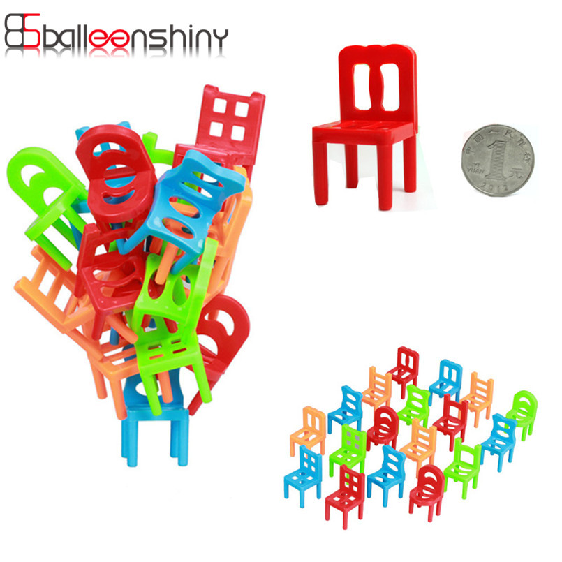 18pcs/set Family Board Game Children Early Educational Toy Balance Stacking Chairs Chair Stool Office Game For Child Adult Kid