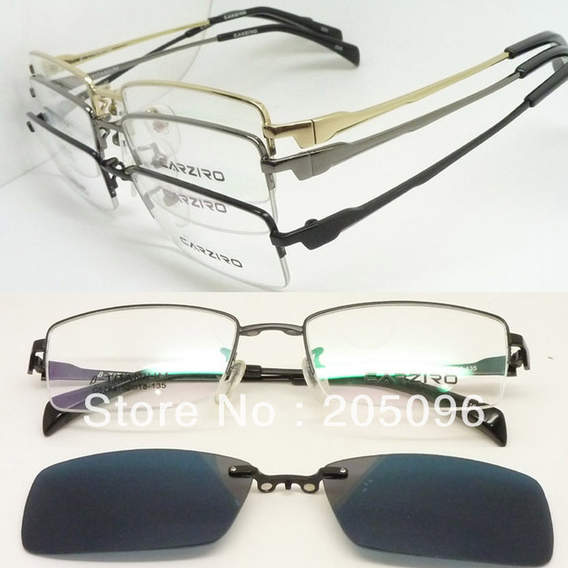 3c90098b5879 wholesale 5 pcs lot C5784 optical titanium eyeglass frame with magnetic  easy clip on UV400 polarized