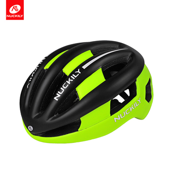 NUCKILY Bicycle Helmets Matte Black Road Bike Helmet Back Light Mountain Bike Integrally Molded Helmets for Men and Women PB08