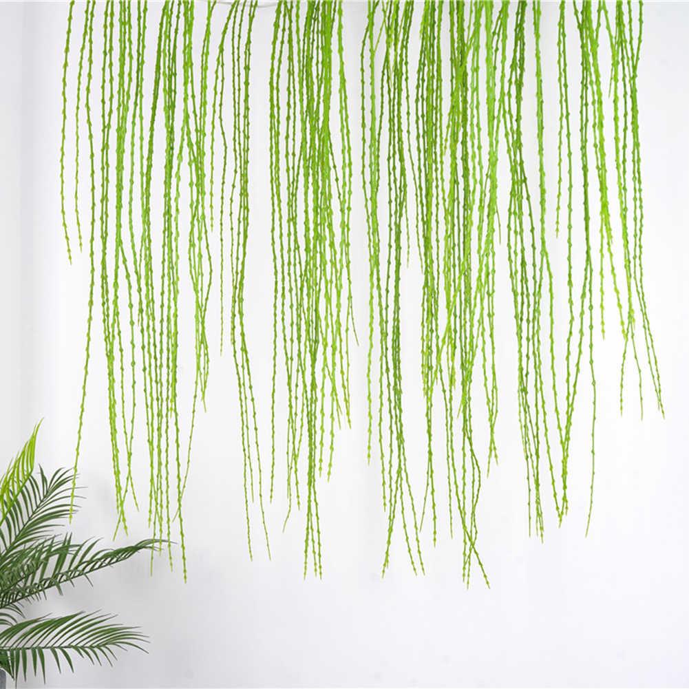Artificielle plante Simulation feuilles vertes en plastique herbe saule branche faux fleur maison mariage décoration florale