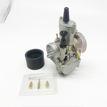 34mm Racing Flat Side Carburetor For PWK Yamaha Honda Suzuki Kawasaki KTM Fit On 200cc 250cc 300cc 350cc Engine
