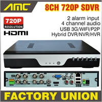 Upgrade 720P Realtime Recording CCTV 4CH AHD H 264 DVR 4 Channel Hybrid HVR NVR SDVR